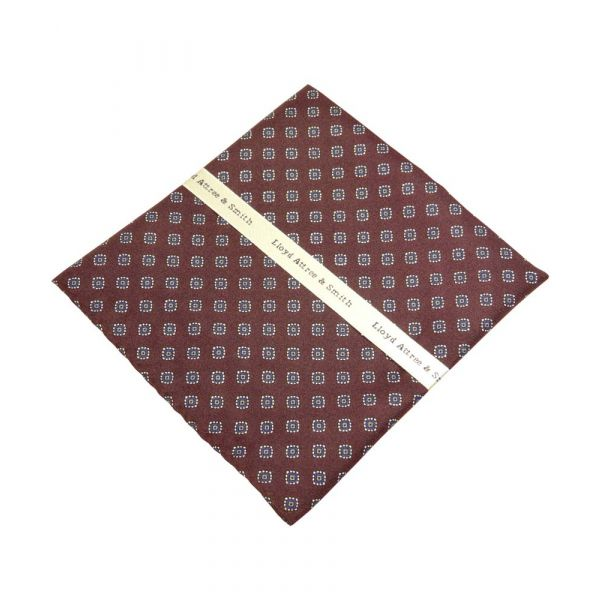 Wine Diamond Design Top Pocket Hankie