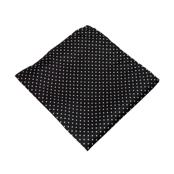 Black and White Spot Top Pocket Hankie