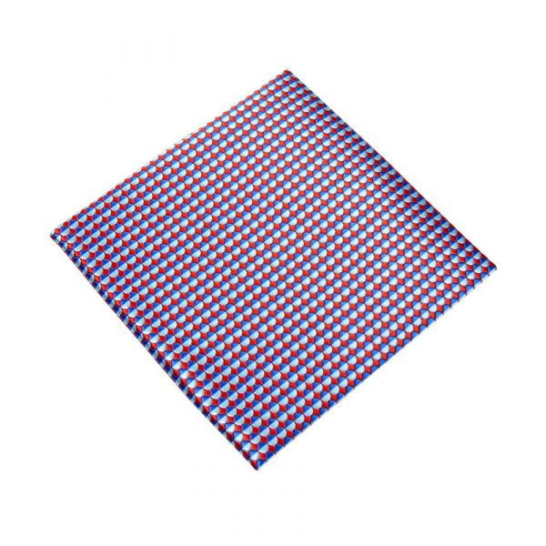 Red and Blue Scales Top Pocket Hankie