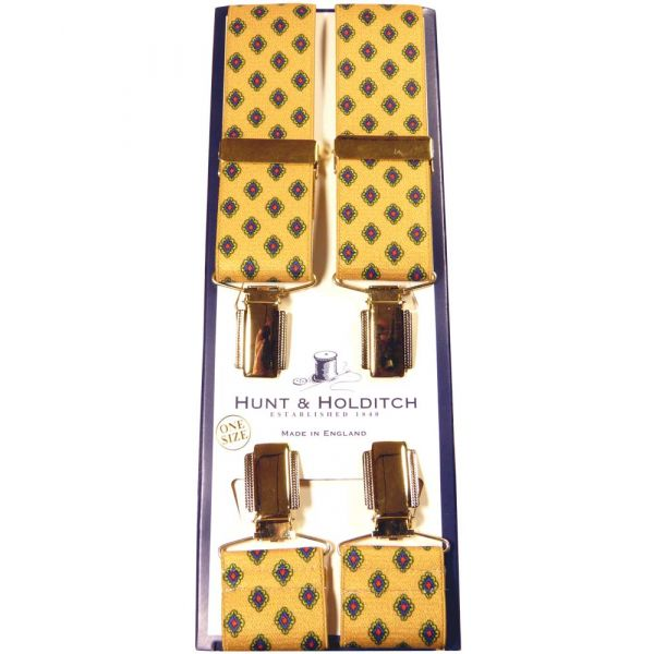Mustard with Diamond Pattern Clip Braces from Hunt & Holditch