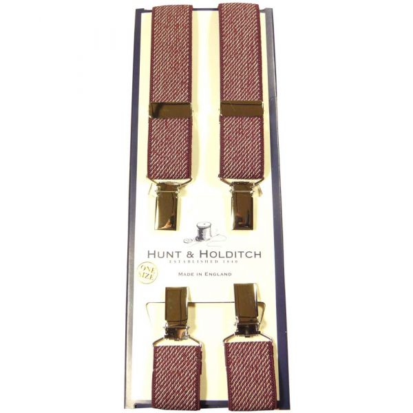 Red Skinny Clip Braces from Hunt and Holditch