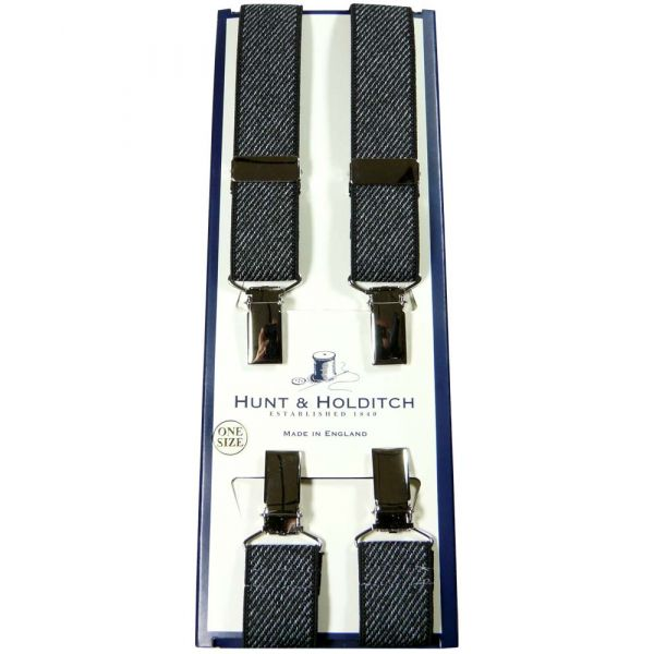 Black Skinny Clip Braces from Hunt and Holditch