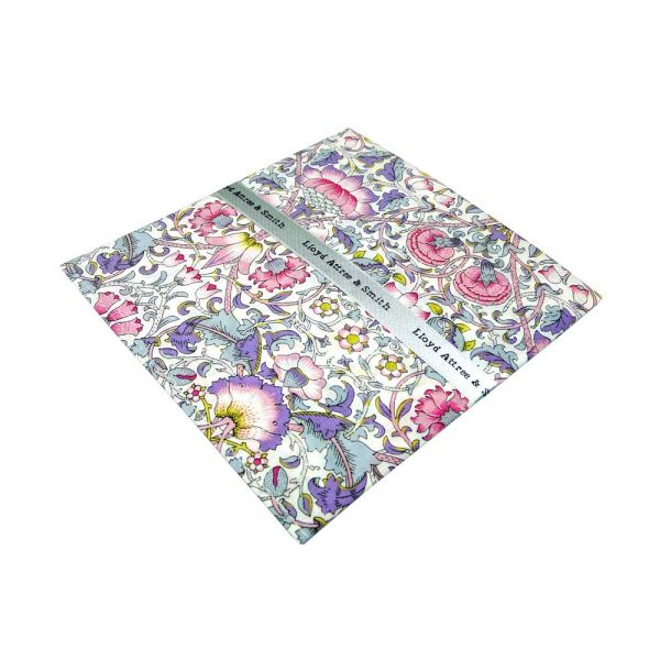 Made with Liberty Fabric Lodden Design in Pink Cotton Pocket Hankie