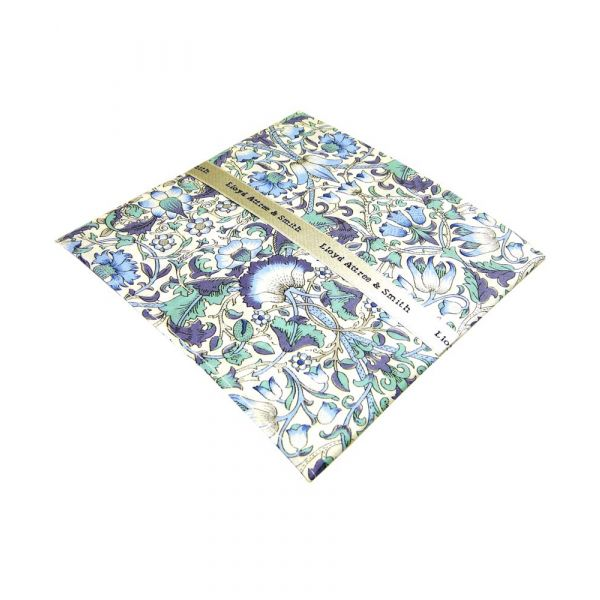 Made with Liberty Fabric Lodden Design in Blue Cotton Pocket Hankie