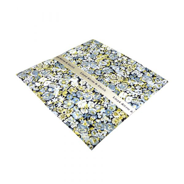 Liberty Print Chive Design in Blue Cotton Pocket Hankie