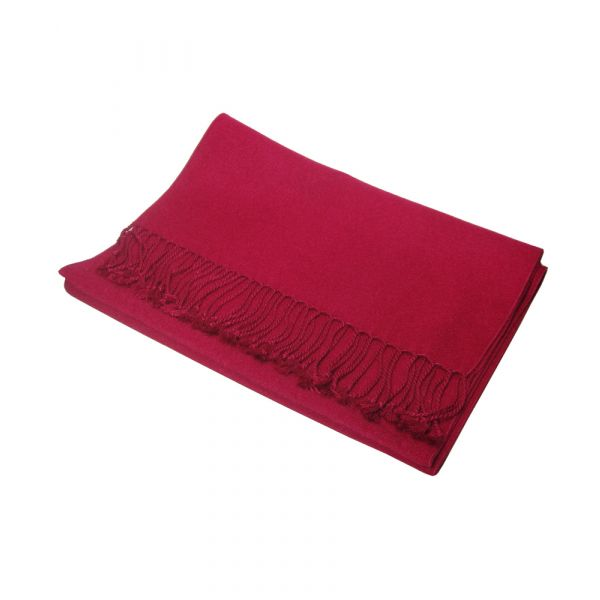 Claret cashmere scarf
