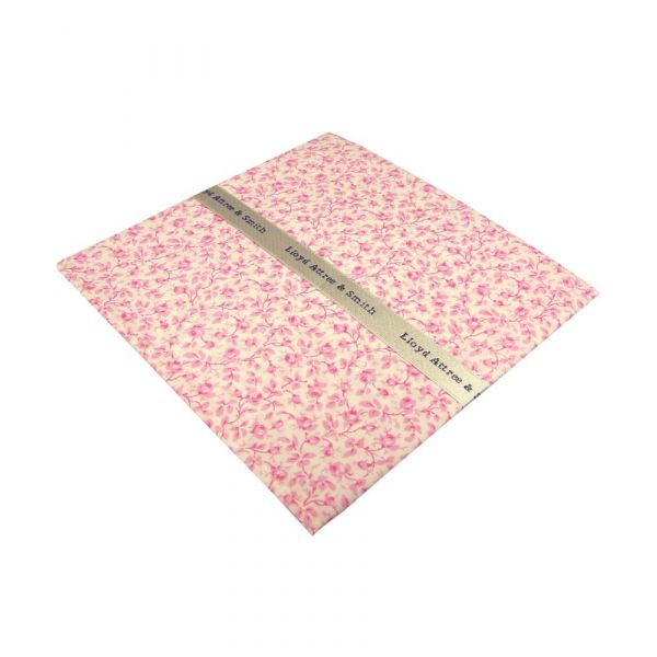 Liberty Print Michael Design in Pink Cotton Pocket Hankie