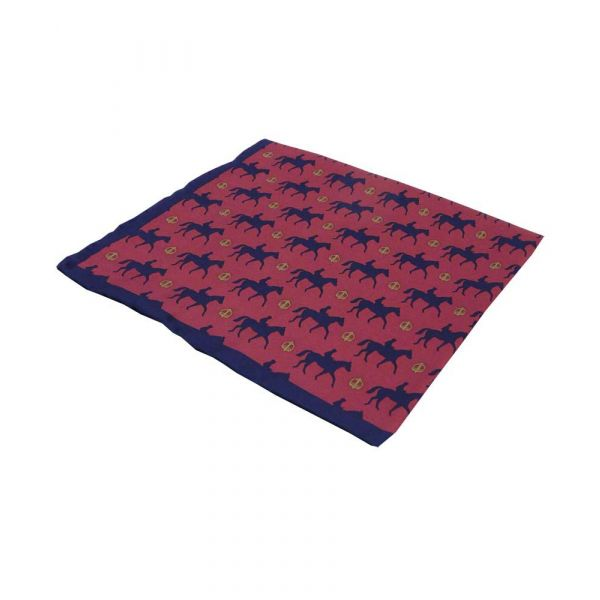Pure Silk Hankie with Race Horse Design
