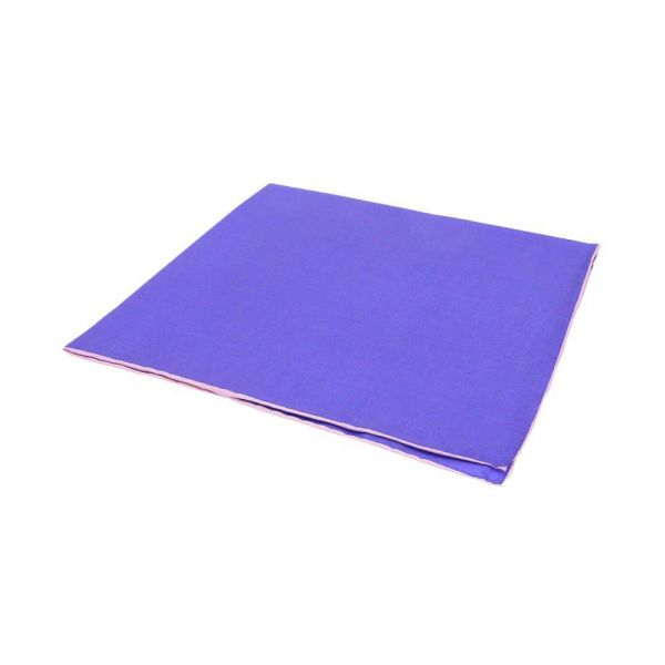 Purple Silk Hankie with Pink Hem