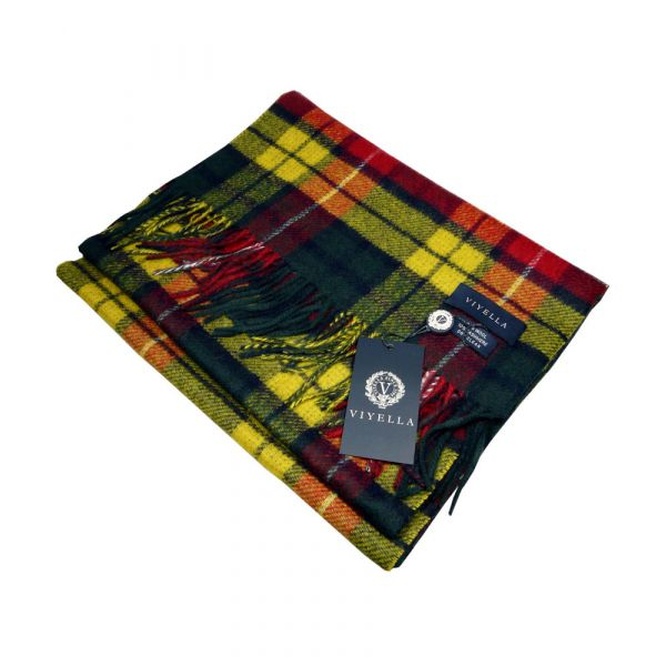 Buchanan Tartan Reversible Wool and Cashmere Scarf from Viyella