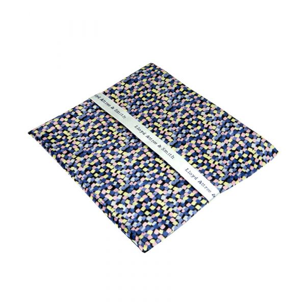 Made with Liberty Fabric May Haze Design in Navy Silk Pocket Hankie