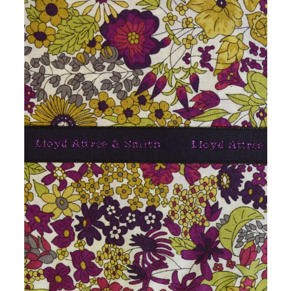 Liberty Print 'Margaret Annie' in Purple Cotton Pocket Hankie