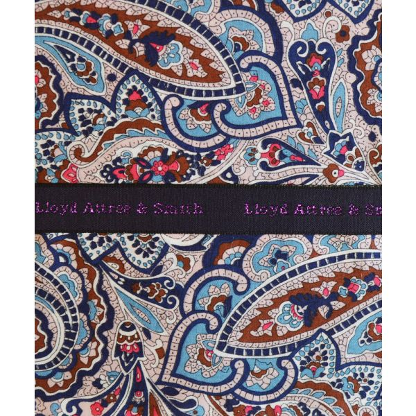 Liberty Print 'Tessa' in Blue Cotton Pocket Hankie