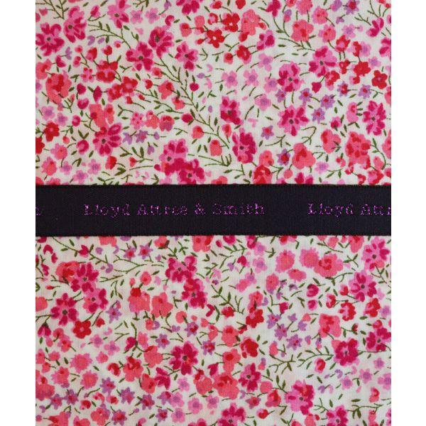 Liberty Print 'Phoebe' in Pink Cotton Pocket Hankie