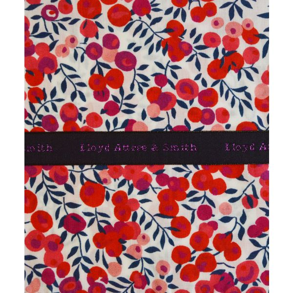 Made with Liberty Fabric Wiltshire in Pink Cotton Pocket Hankie