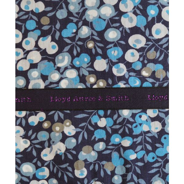 Made with Liberty Fabric Wiltshire in Blue Cotton Pocket Hankie
