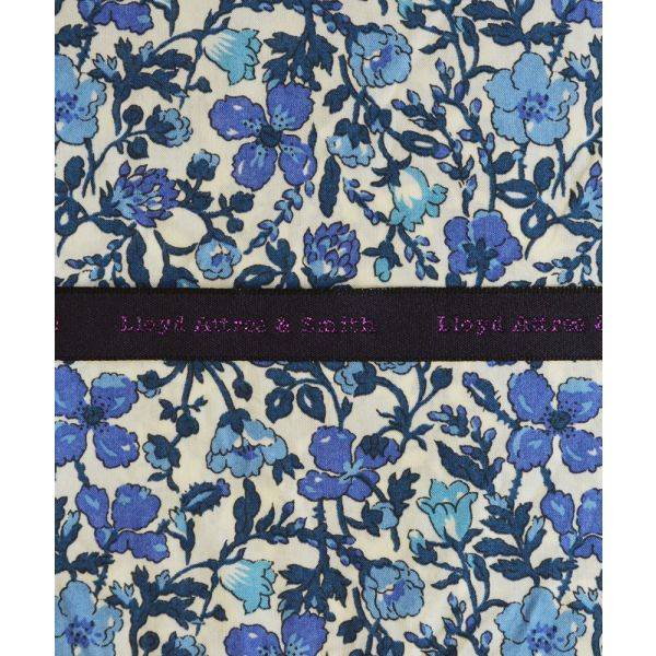Made with Liberty Fabric Meadow in Blue Cotton Pocket Hankie