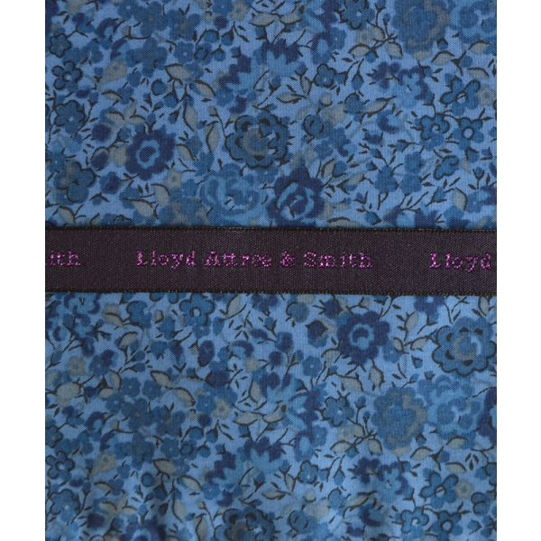 Liberty Print 'Emma and Georgina' in Blue Cotton Pocket Hankie
