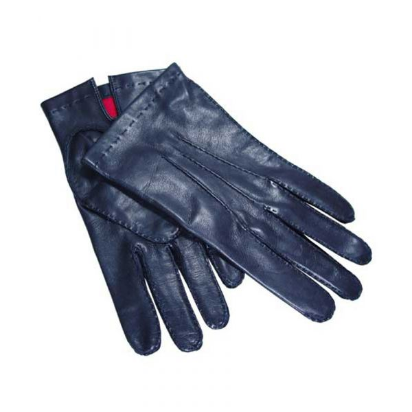 Men's Black Nappa Silk Lined Leather Gloves from Dents