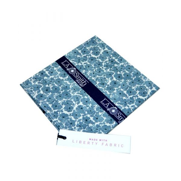Liberty Print Fabric 'Beccaria' Design in Blue and White Cotton Hankie