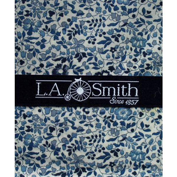 Liberty Print 'Katie & Millie' Design in Blue Cotton Hankie