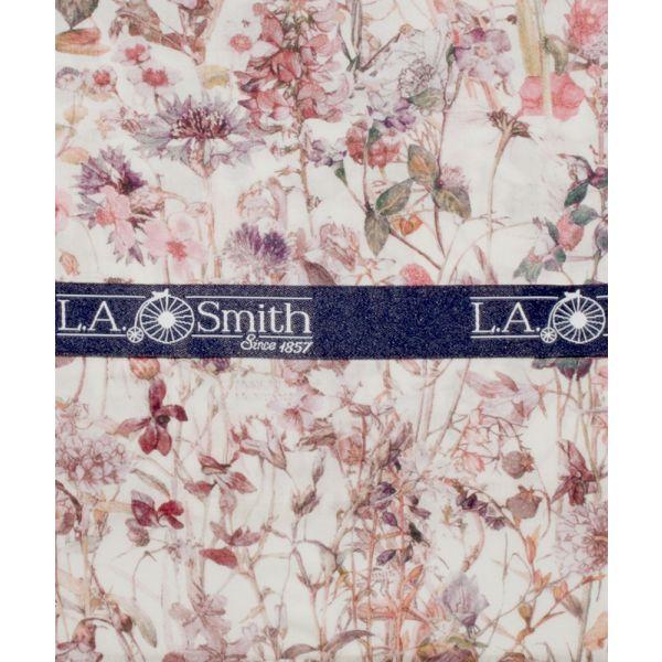 Liberty Print Wild Flower Design in Pink Cotton Hankie