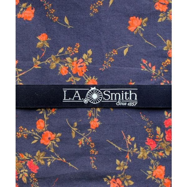 Liberty Print 'Elizabeth' Design in Navy Cotton Hankie