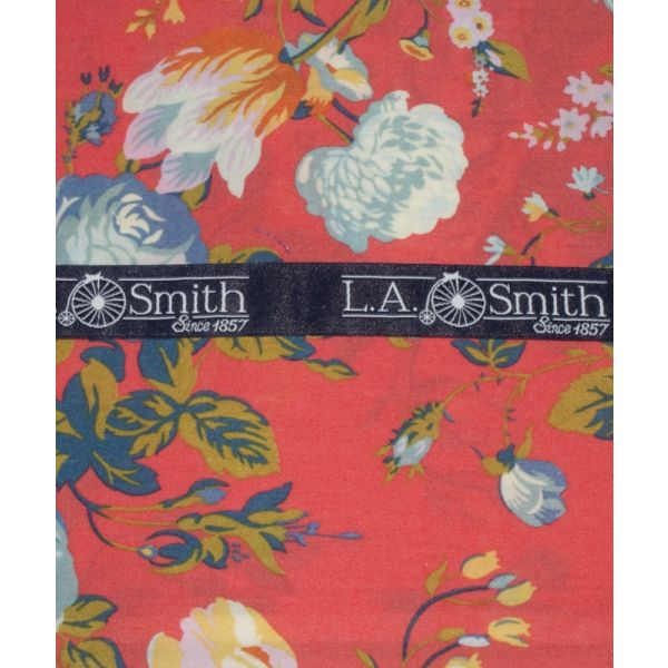 Liberty Print 'Magical Bouquet' Design in Red Cotton Hankie