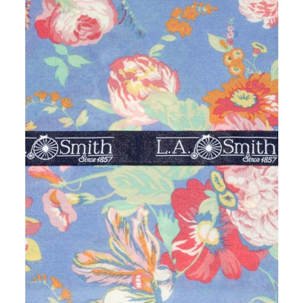 Liberty Print 'Magical Bouquet' Design in Blue Cotton Hankie