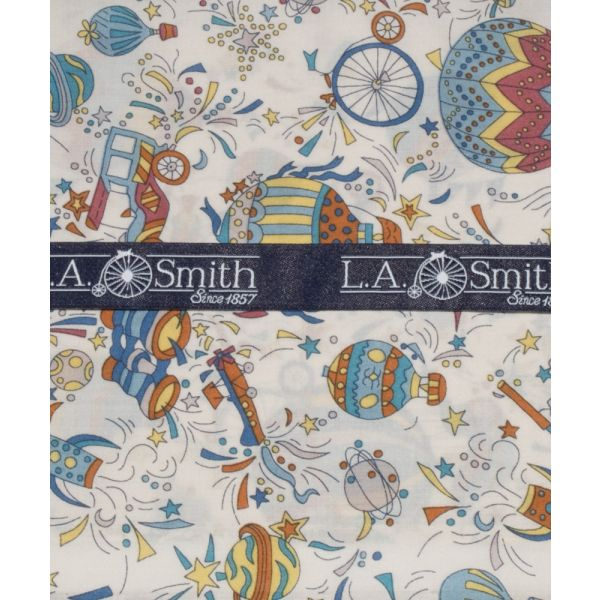 Liberty Print 'Sky High' Design in Blue Cotton Hankie