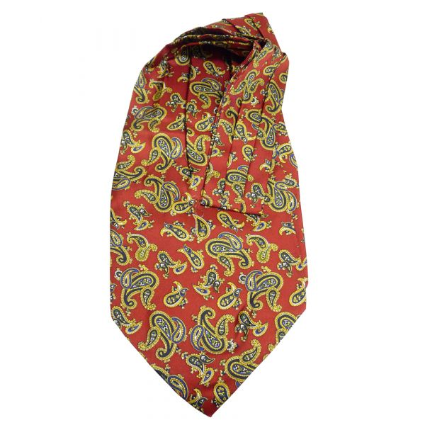 Red large paisley silk cravat