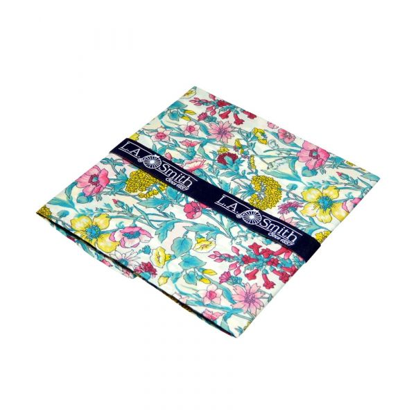 Liberty Cotton Pocket Square - Rachel in Pink