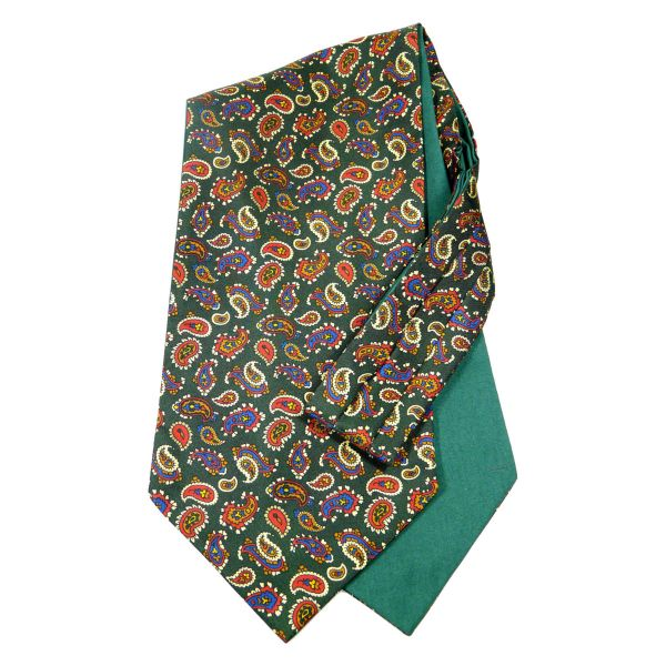 Van Buck Silk Cravat with Cotton Back in Paisley Design