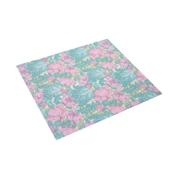 Liberty Cotton Pocket Square - Clementina Pink Poppies