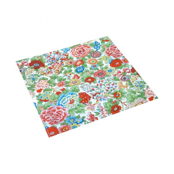 Liberty Cotton Pocket Square - Elysian Day Multi Floral