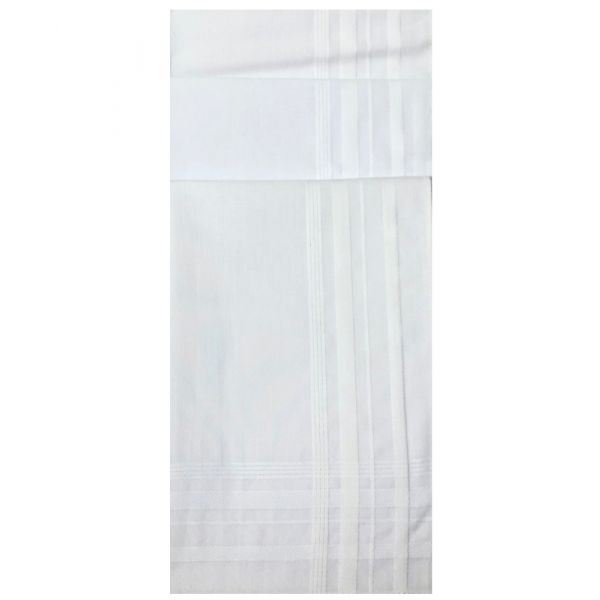 Box of Three White Cotton Hankies from Le Chateau