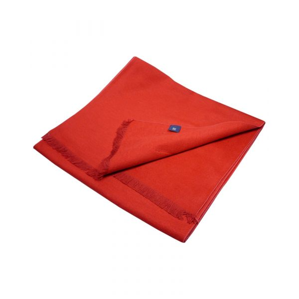 Bright Red Brushed Silk Scarf from LA Smith