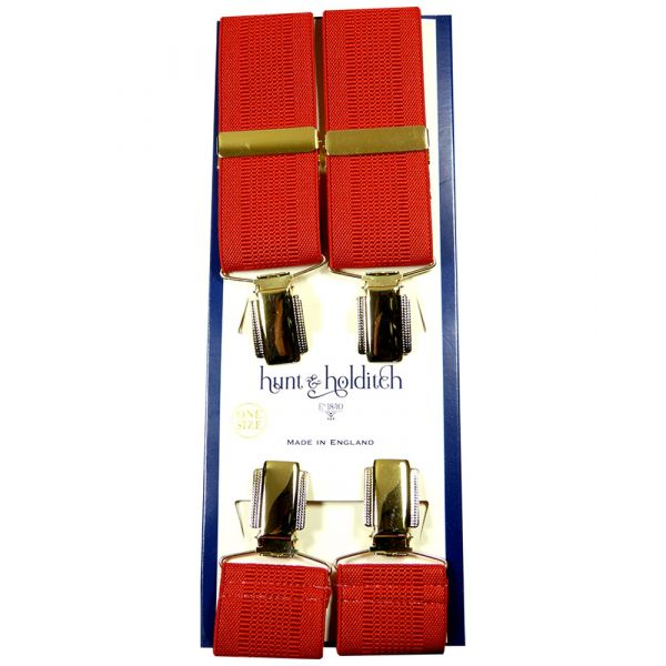 Red Textured - Clip Braces from Hunt and Holditch