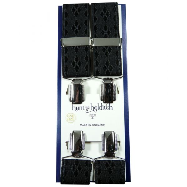 Black Shadow Diamonds - Clip Braces from Hunt and Holditch