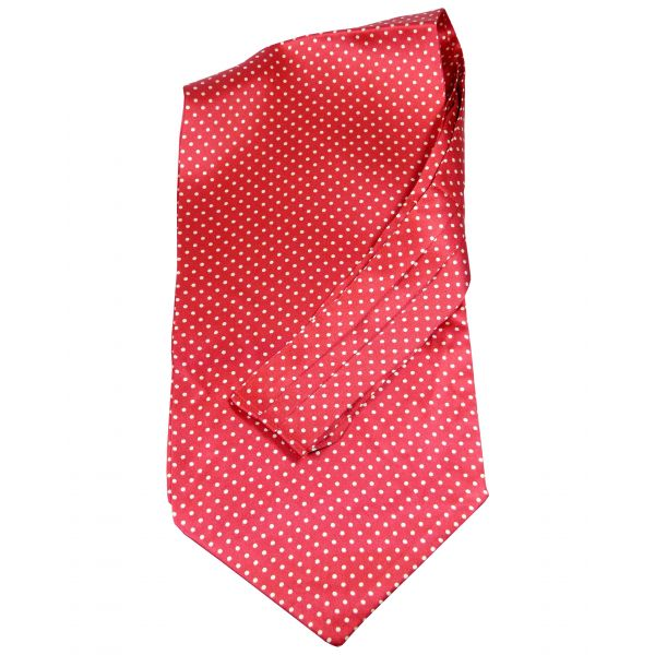 Tootal - Silk Cravat in Red with White Spots