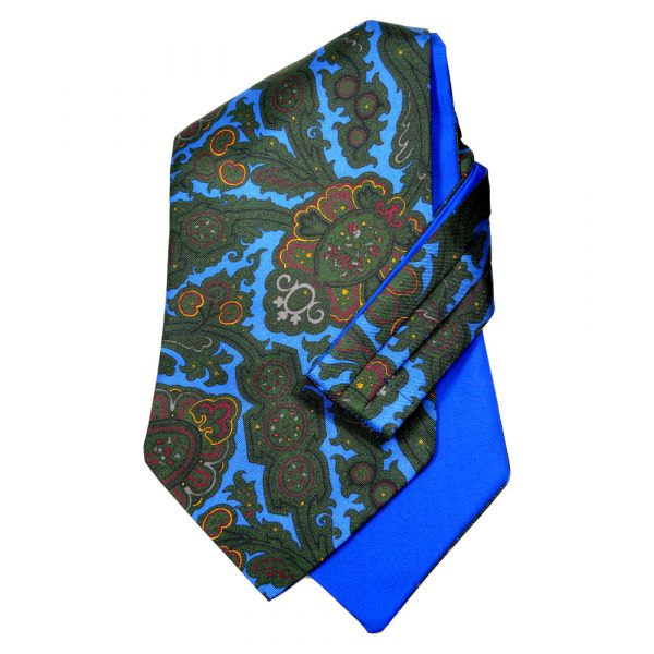 Blue Paisley -  Self Tie Silk Cravat from Hunt and Holditch