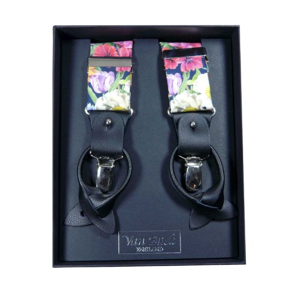 Meloody Blooms Liberty Fabric Braces from Van Buck - Limited Edition