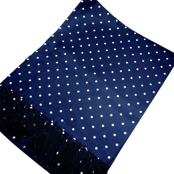 Wide Silk Scarf with Polka Dots from Michelsons