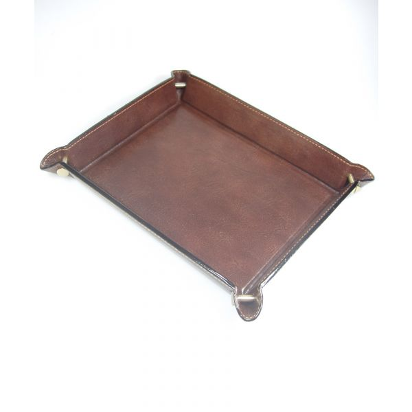 Large Leather Desk Tray