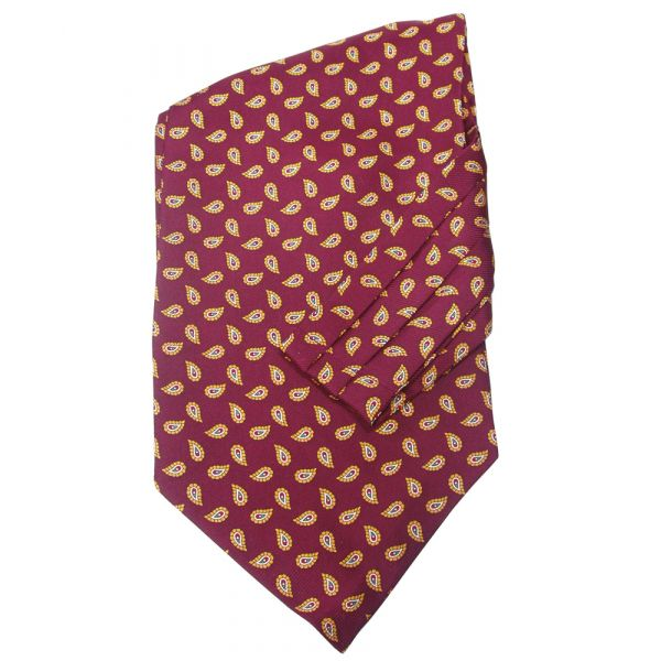Maroon Birds Eye Silk Cravatte