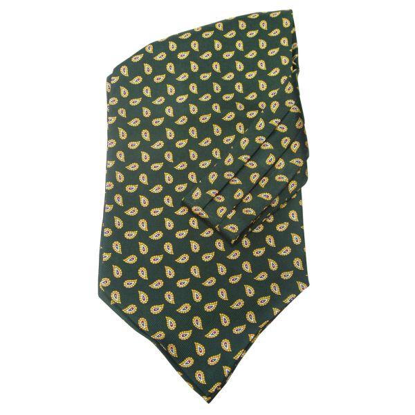 Green Birds Eye Silk Cravatte