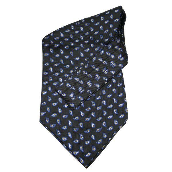 Black Birds eye silk cravatte
