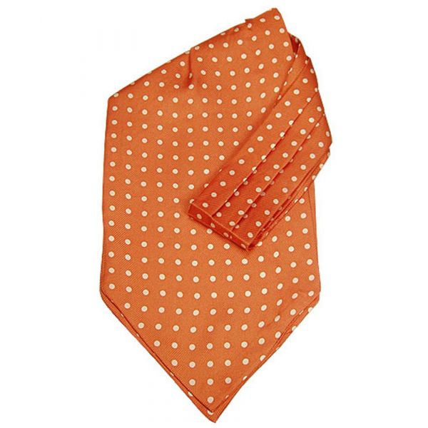 Orange Cravat with White Spots