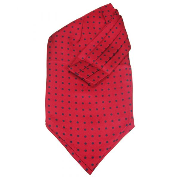 Red Cravat With Black Spots