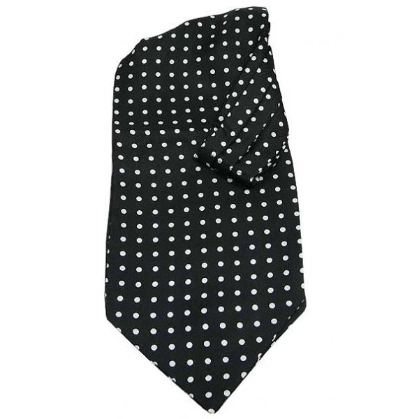 Black Cravat With White Spots by Soprano